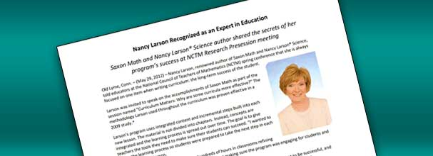 Nancy Larson Recognized as an Expert in Education