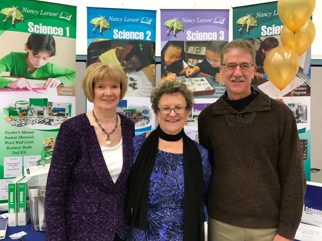 Nancy Larson (left) with Jeannie Richardson and KelLee Parr at a conference in Eudora, Kansas.