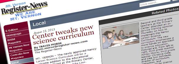 Center tweaks new science curriculum