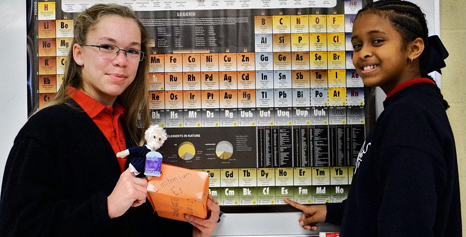 Girls presenting Einsteinium