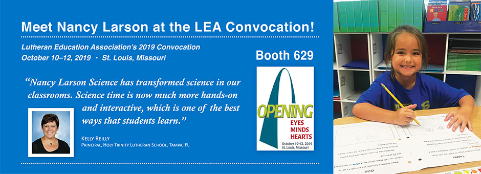 Meet Nancy Larson at the LEA Convocation in St. Louis!